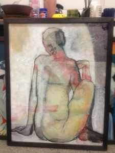 one of my paintings (untitled) from the Yoga series
