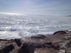 Lake Michigan frozen