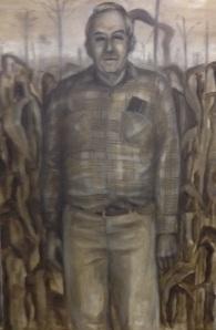 A painting I did twenty years ago of my dad. I call him Columbus.