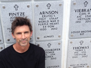 Me at Erling's resting place.