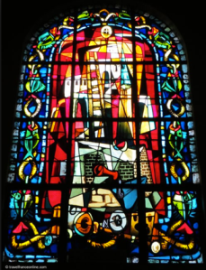 One of the windows by Max Ingrand at Saint Pierre de Montmarte