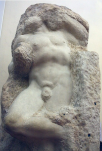 Michelangelo's 'Awakening Slave.' photo from academia.org