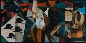 """One panel of a triptych I did for a performance with The Portland Chamber Orchestra. This is, """"Prometheus: Resurrection"""""""