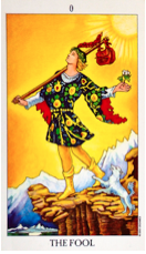 The Fool card from The Radiant Rider Waite deck