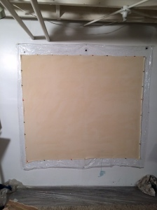 a new canvas, stretched and ready for gesso.