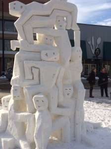 from the 2015 Racine snow carving contest. I'm sorry I did not capture the artists names!