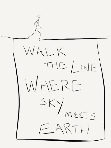 Walk the line where earth meets sky