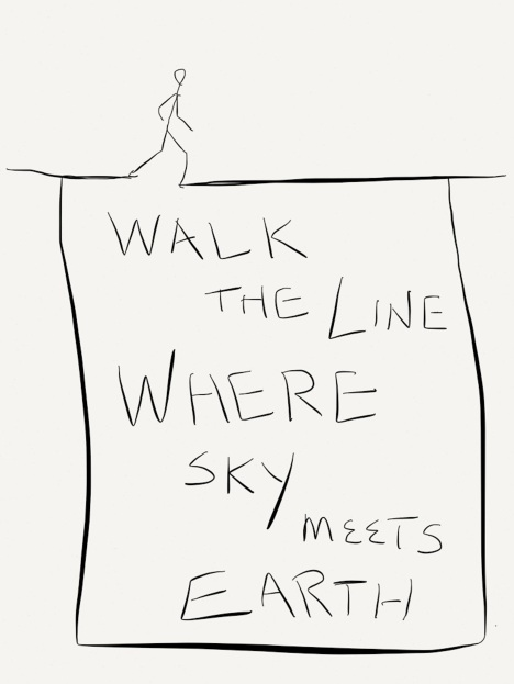 Walk the line where earth meets sky