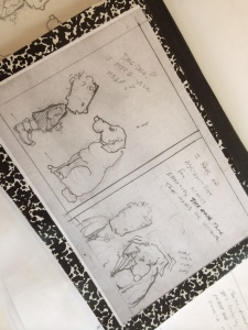 my idea book for our coming-soon cartoon, Chicken Marsala
