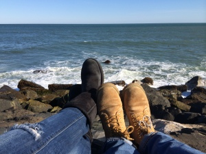 Our feet at Montauk