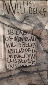 A detail from my painting, Will Is Belief