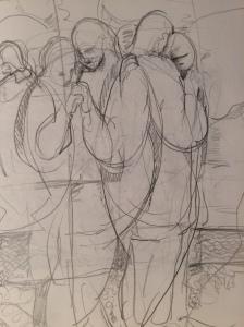 a sketch: Dancing At Crab Meadow