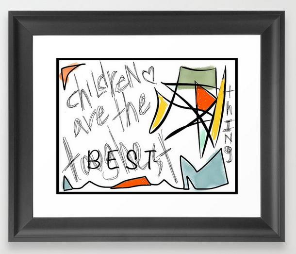 TwoArtists ChildrenAre FRAMED PRINT