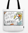 TwoArtists childrenAre TOTE BAG