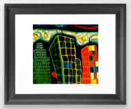cityscape FRAMED ART PRINT copy