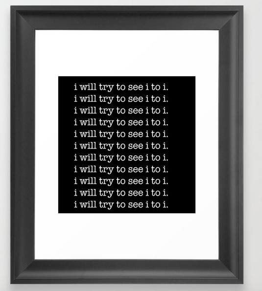 i to i FRAMED PRINT copy