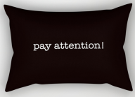 pay attention RECT PILLOW copy