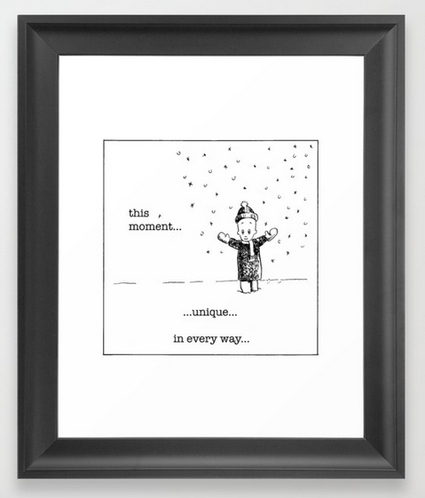 ThisMomentUnique framed print