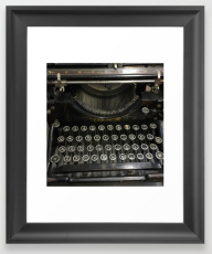 vintage type FRAMED ART PRINT copy