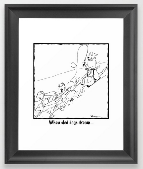 sled dogs dream FRAMED PRINT copy