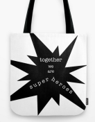 superheroes TOTE BAG copy