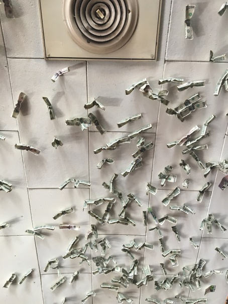 THIS husby's dollar bill ceiling copy