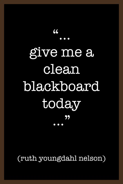 clean blackboard copy