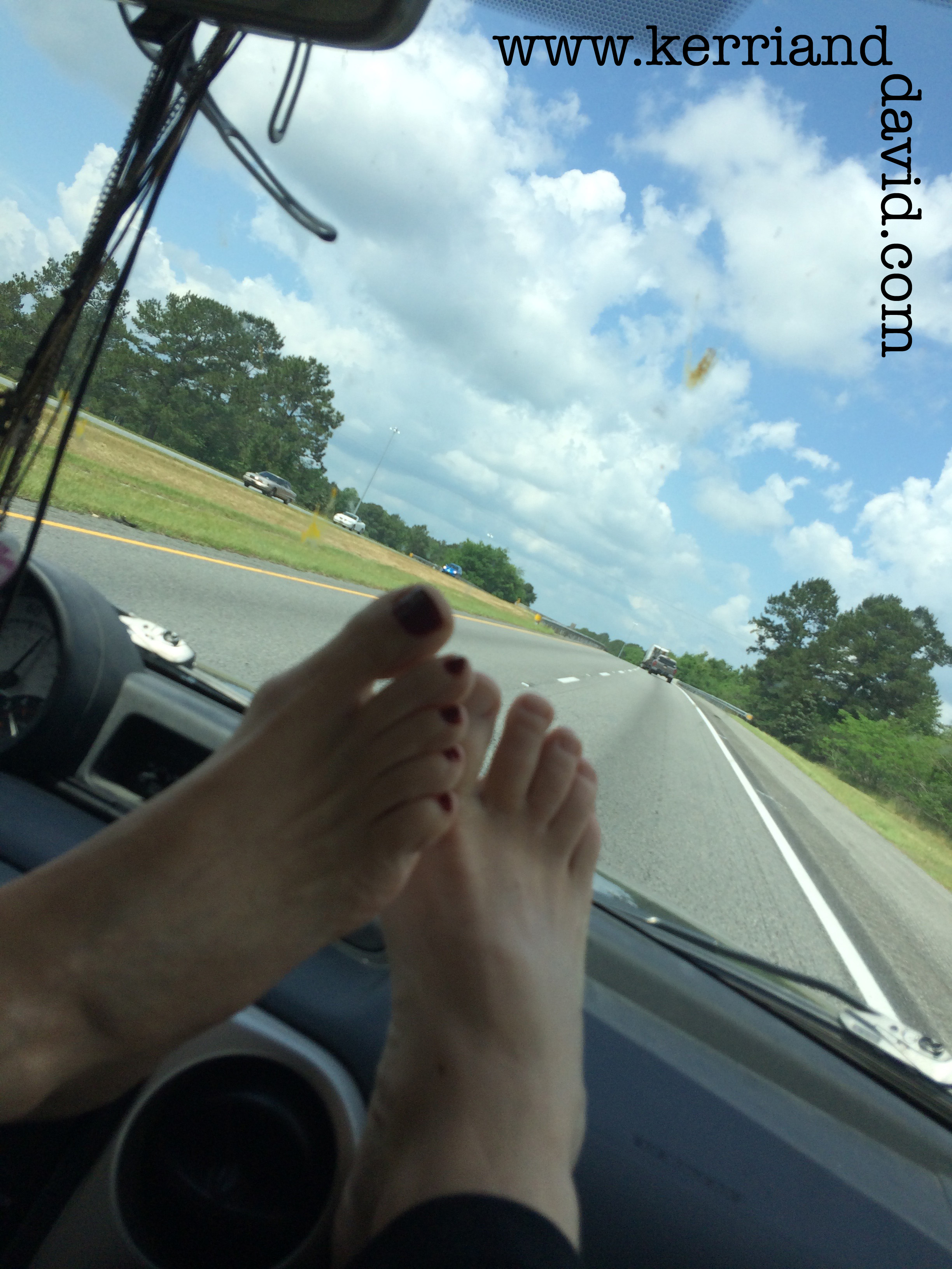 feet on dashboard website box copy