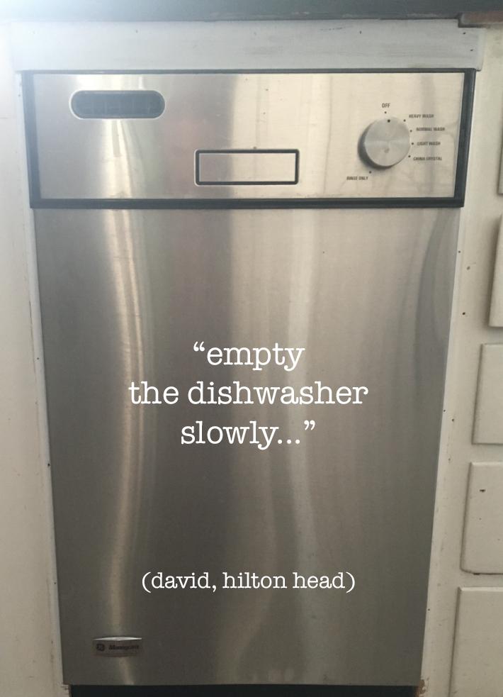 empty the dishwasher slowly box copy