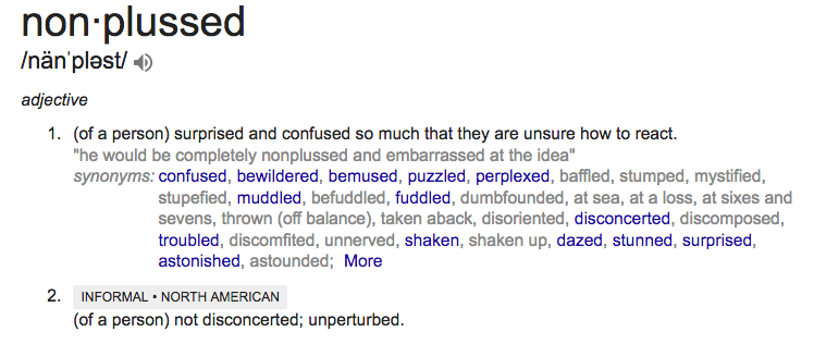 nonplussed definition copy