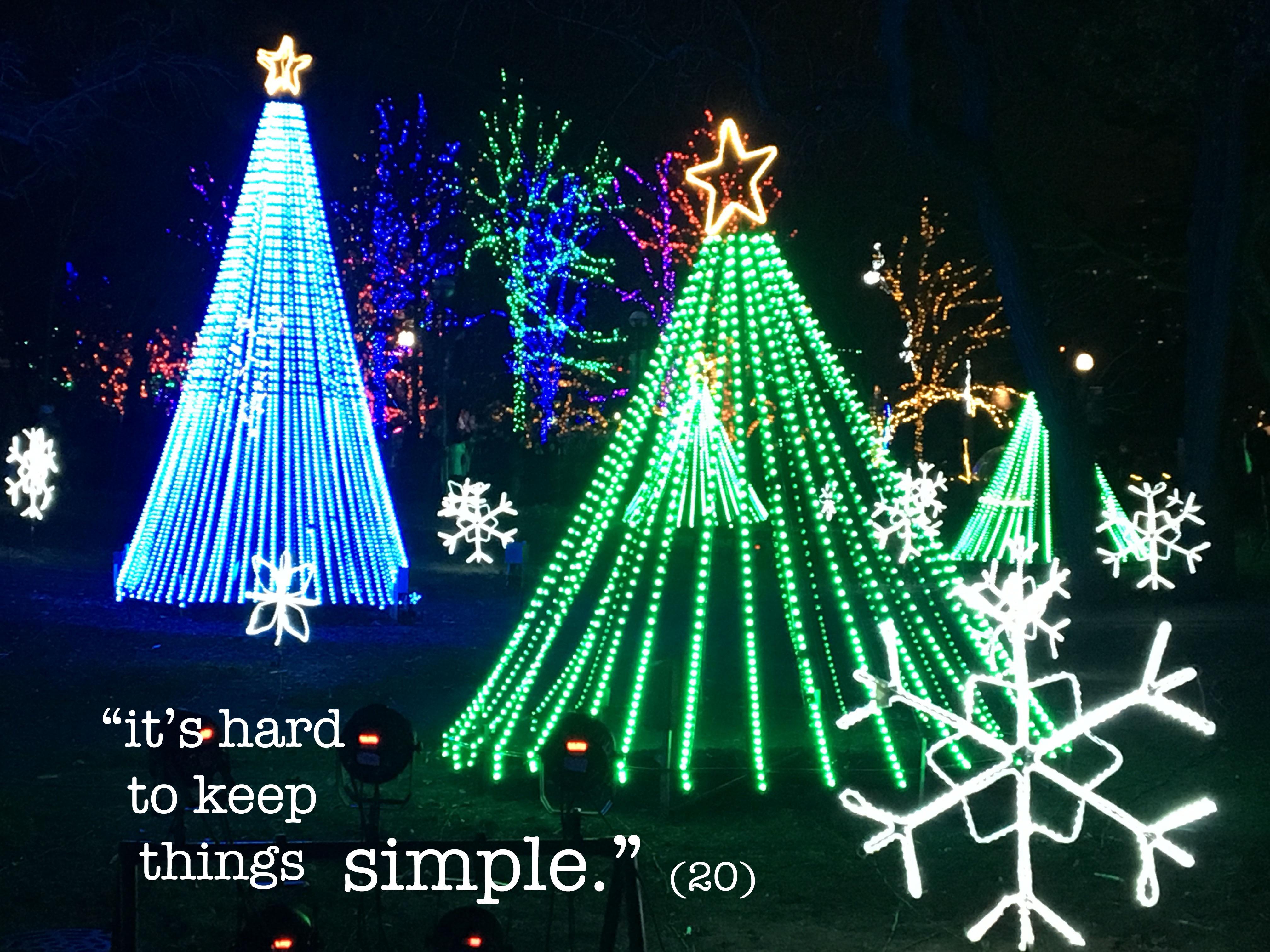 keep things simple copy
