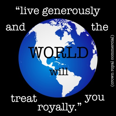 the world will treat you royally copy