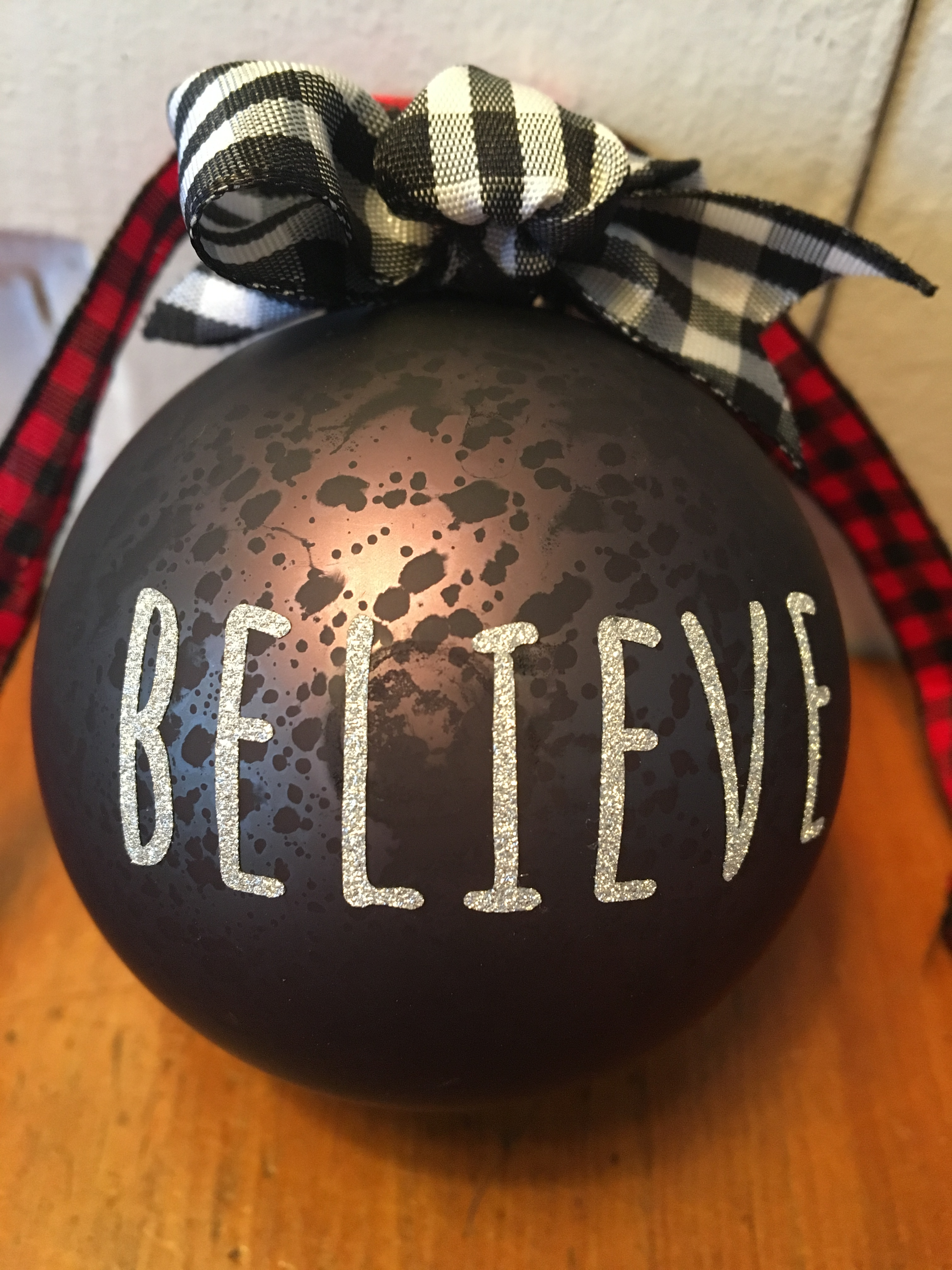 believe ornament copy