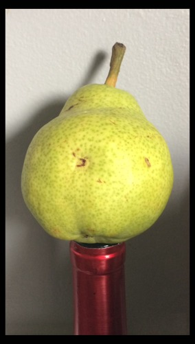pear on wine bottle copy
