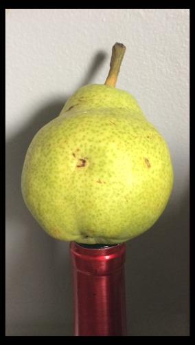 pear on wine bottle copy