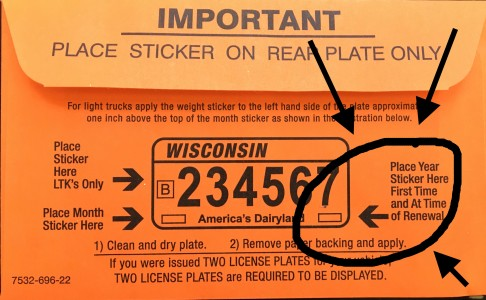marked license plate stickers copy